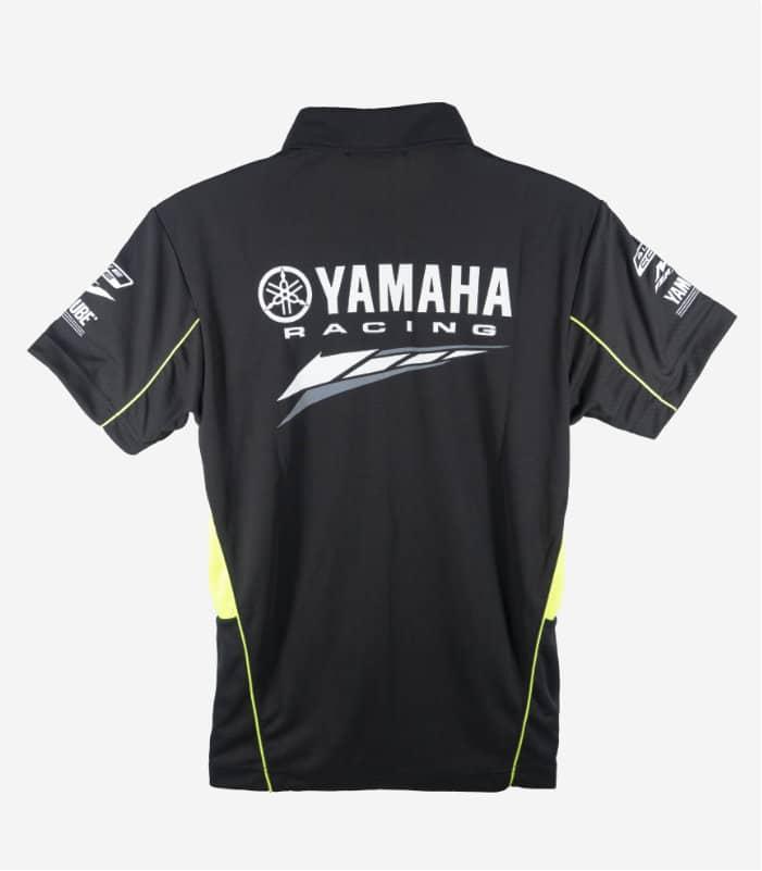 Yamaha Racing Collar Black Green Polo Tee