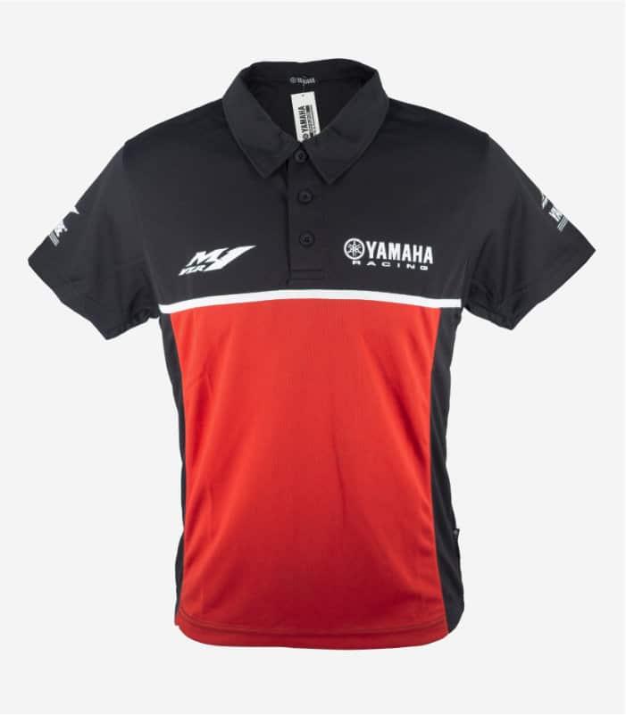 Yamaha Racing Collar Black Red Polo Tee