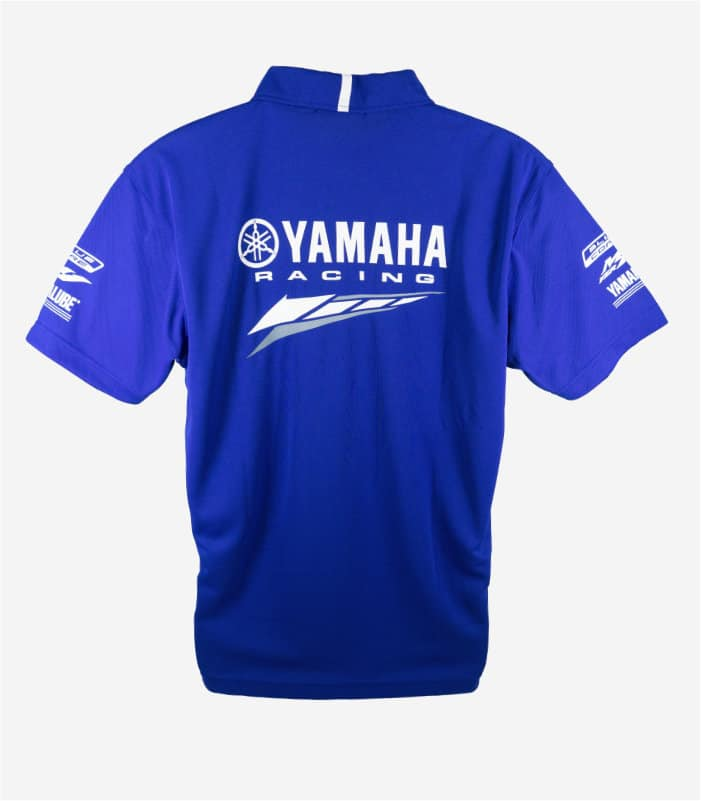 Yamaha Racing Collar Blue Polo Tee