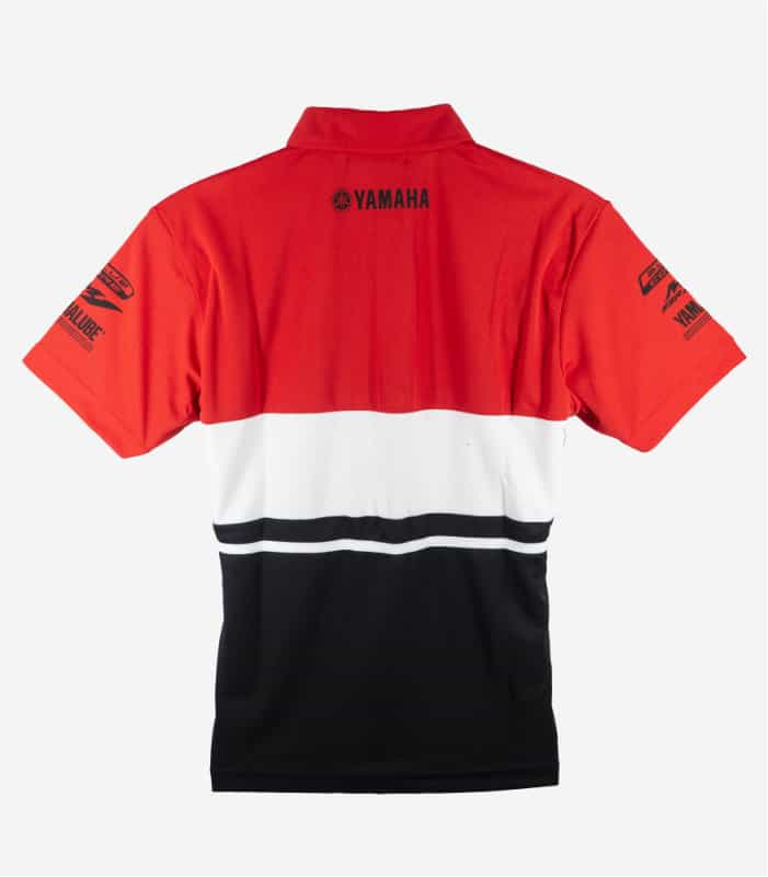 Yamaha Racing New Collar Black Red Polo Tee