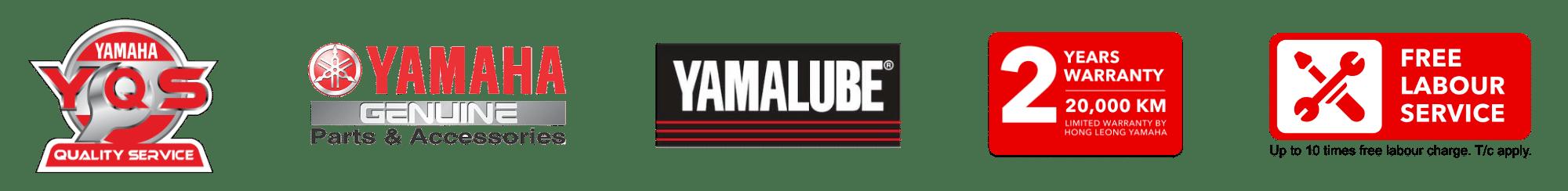yamaha quality service factory approved service logo