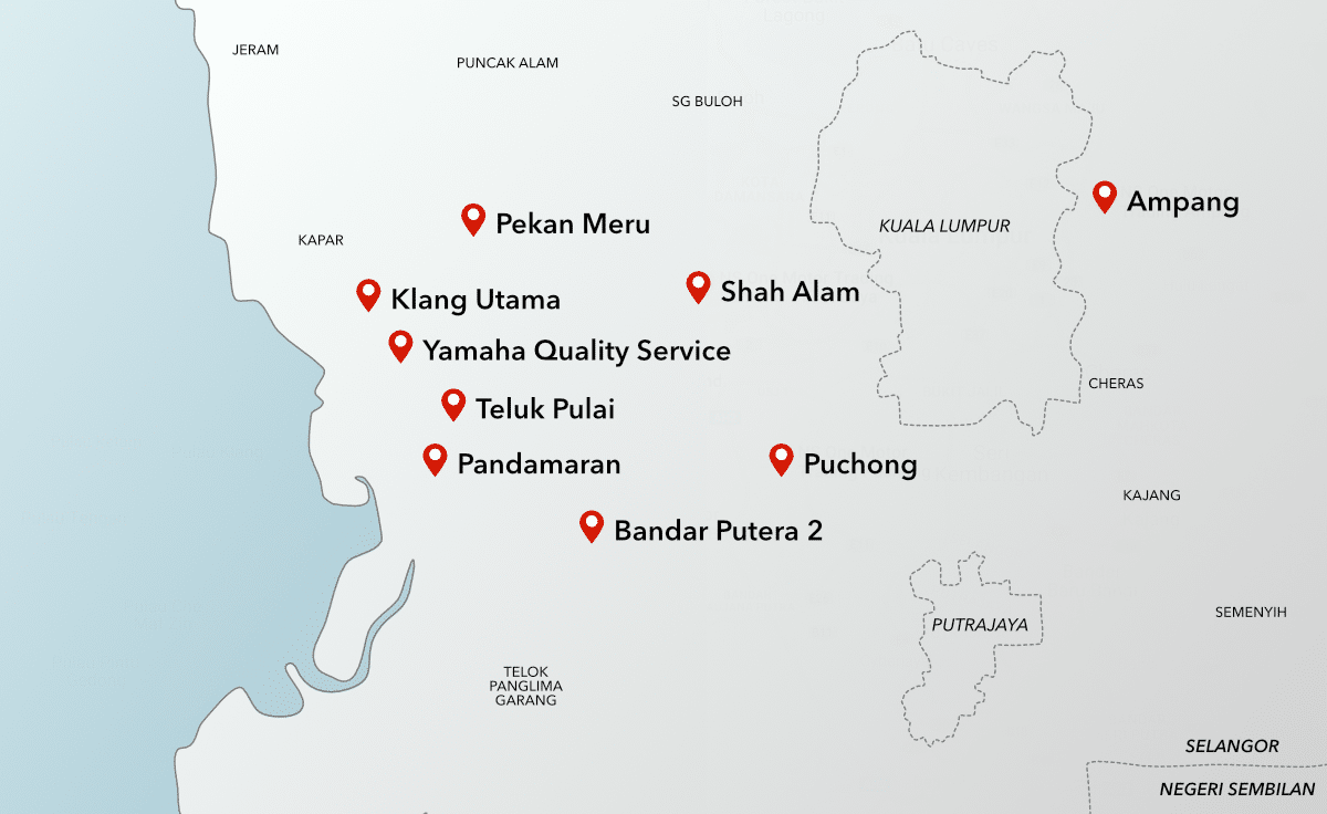 NS One Motor Branches Map