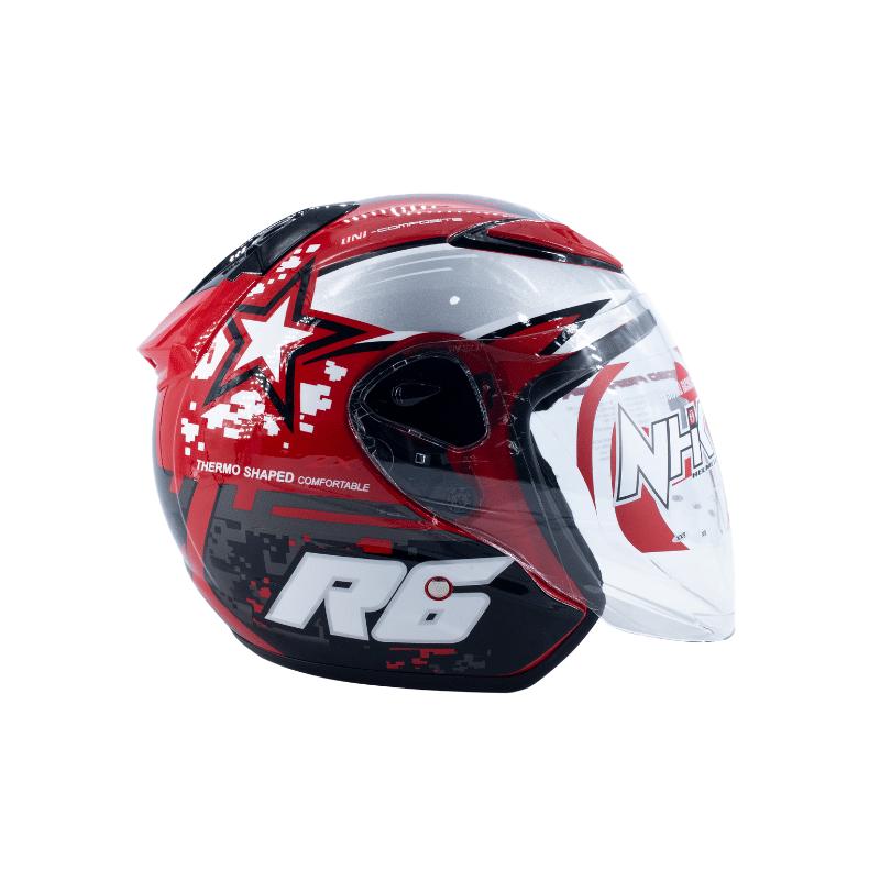 Helmet NHK R6 Pixel Red 3