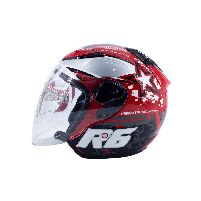 Helmet NHK R6 Pixel Red 4