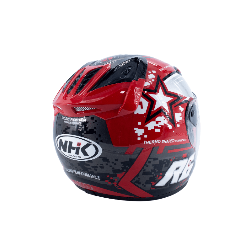 Helmet NHK R6 Pixel Red 7