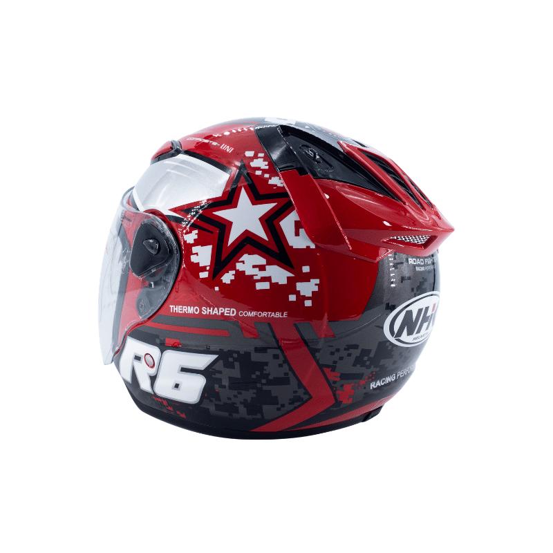 Helmet NHK R6 Pixel Red 8